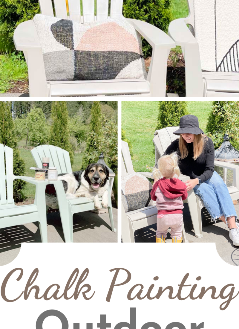 Chalk Painting Outdoor Furniture