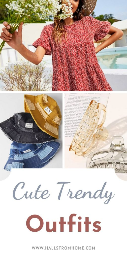 Cute Trendy Outfits / Trendy summer Outfits for teenage girls / summer fashion / clothing accessories / Cute Fashion Accessories / Hallstromhome