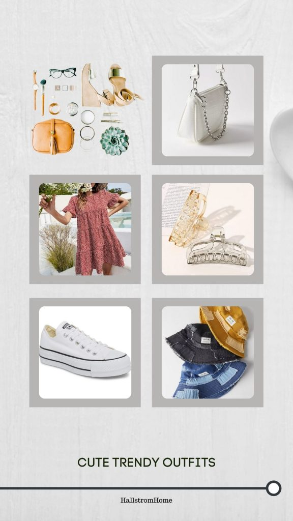 Cute Trendy Outfits / Trendy summer Outfits for teenage girls / summer fashion / clothing accessories / Hallstromhome