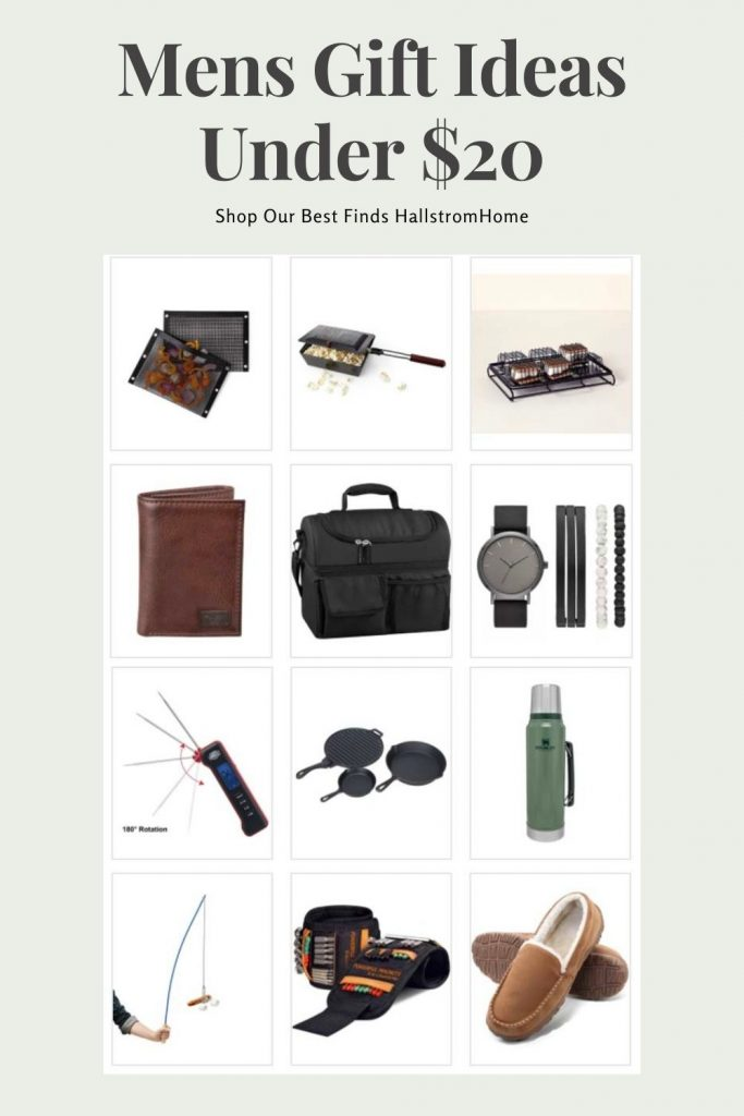 Mens Gift Ideas Under $20 / 10 Guys Gifts Under $20/ Fathers gifts under $20/ Inexpensive mens gifts / Fathers Day Gift Ideas / Birthday Ideas For men / HallstromHome