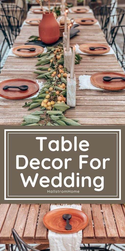Table Decor For Wedding / table decorations for wedding / table decor wedding / ideas for table decor / table decor wedding ideas / hallstromhome