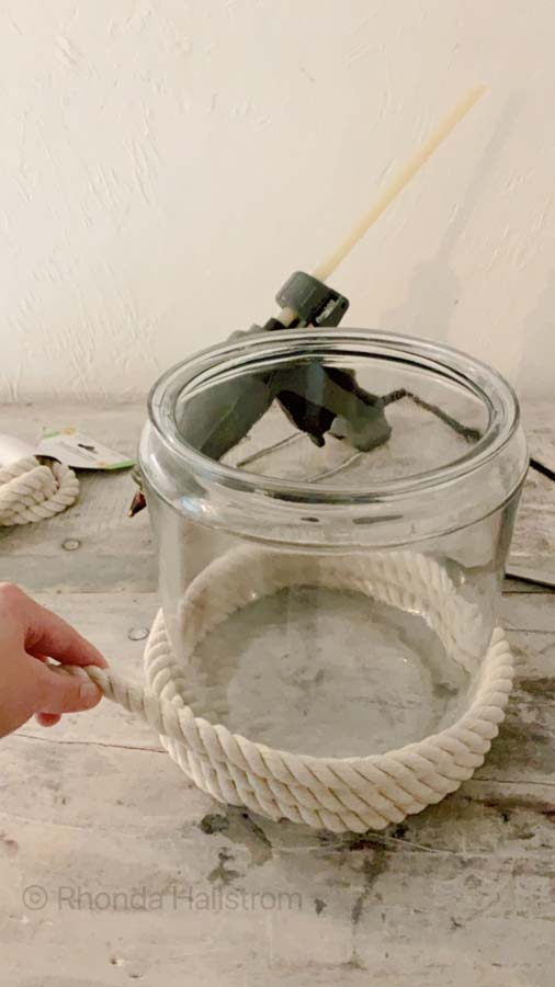 Dollar Store Hacks / Dollar Store Organization Hacks / DIY Jar / DIY with Jar / DIY jar ideas / DIY Fairy Jar / DIY in a jar gifts / Diy Mason Jar / rope jar / home decor / modern home hacks / Home decor diy / dollar store tutorial / dollar store diy / mason jar tutorial / HallstromHome