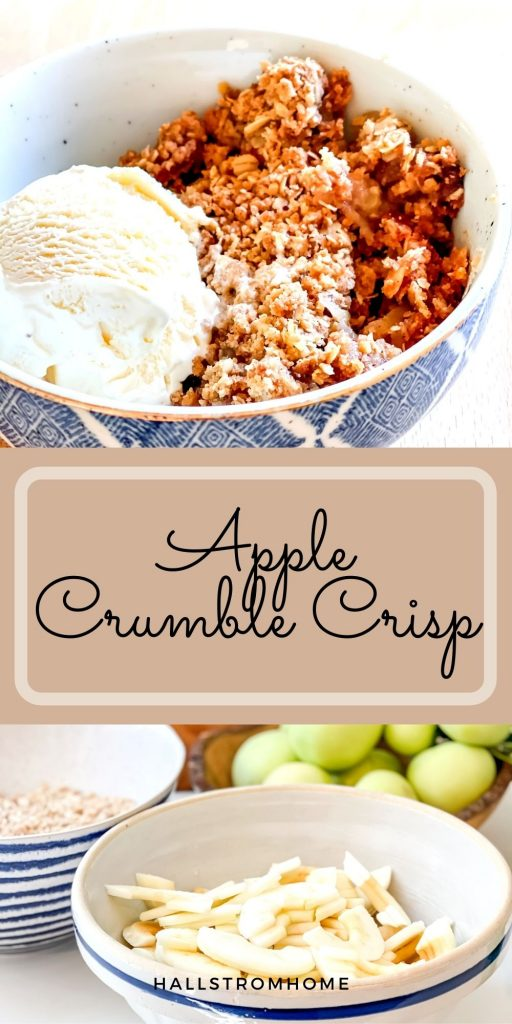 Apple Crumble Crisp / Apple Crumble Recipe With Oats / Apple Crumble Easy / Topping For Apple Crumble / How To Make Apple Crumble / HallstromHome