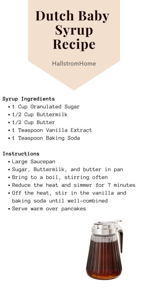 Best Dutch Baby Recipe / Dutch Baby / Dutch Baby Recipe / Dutch Baby Pancake / How To Make Dutch Baby Recipe / Breakfast Recipe / Breakfast With Eggs / Easy Breakfast / Breakfast Recipe Easy / HallstromHome
