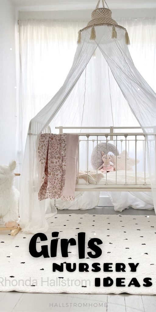Girls Nursery Idea / Boho Nursery / Girls Nursery Decor / Girls Nursery Rug / Nursery Decor Girl / Ideas for Nursery Decor / Nursery Decor Wall / Modern Nursery / Nursery Rug / Rug for Nursery Girl / Nursery Decor For Girls / HallstromHome