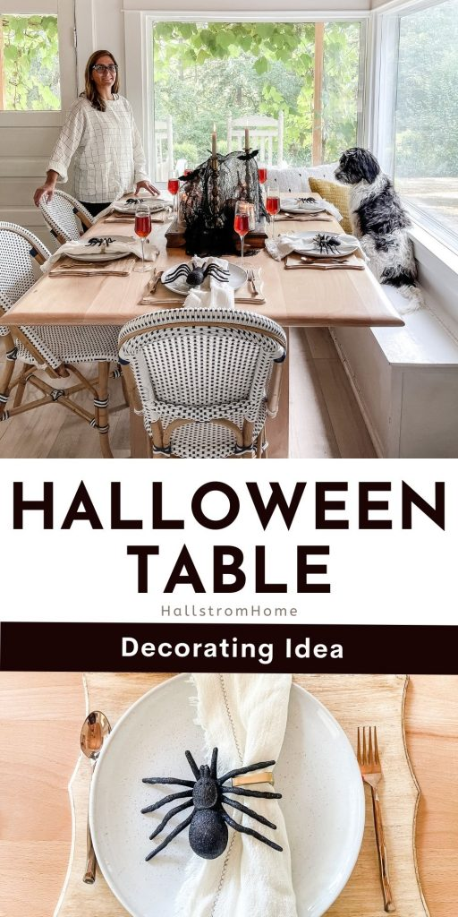 Ideas For Halloween Table Decorations / Easy Halloween Table Decorations / Halloween Tablescape Ideas / Indoor Halloween Decor / DIY Halloween Table Decor Ideas / How To Make Halloween Decor / HallstromHome