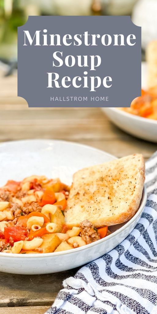 Recipe For Minestrone Soup From Olive Garden / Minestrone Soup Healthy Recipe / How To Make Minestrone Soup / Best Homemade Minestrone Soup / HallstromHome