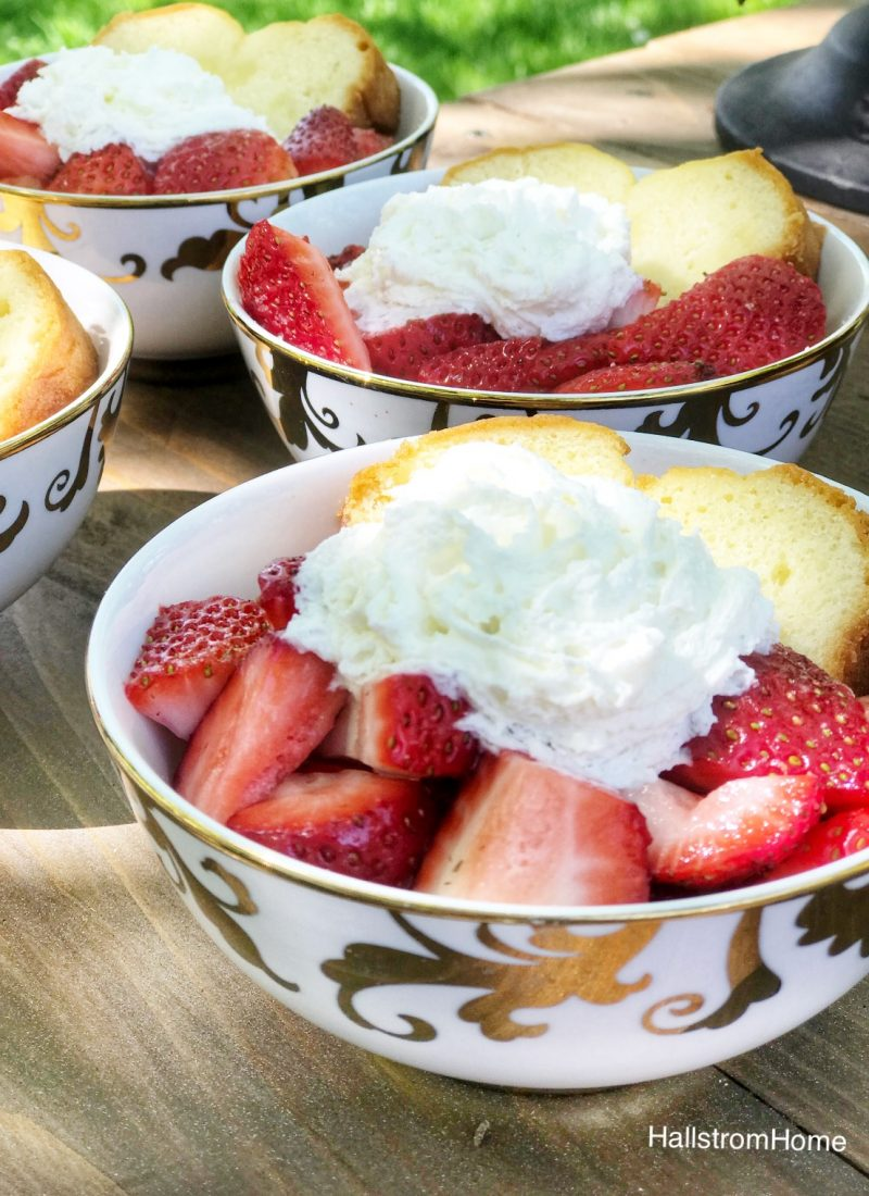 Strawberry Shortcake with a Twist / Cake For Strawberry Shortcake Recipe / Homemade Strawberry Shortcake Recipe / Easy Strawberry Shortcake / HallstromHome